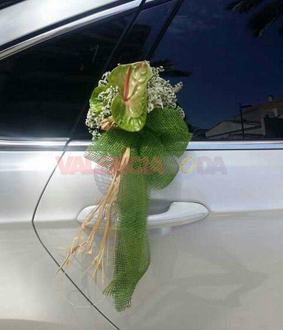 ramo para coche de boda