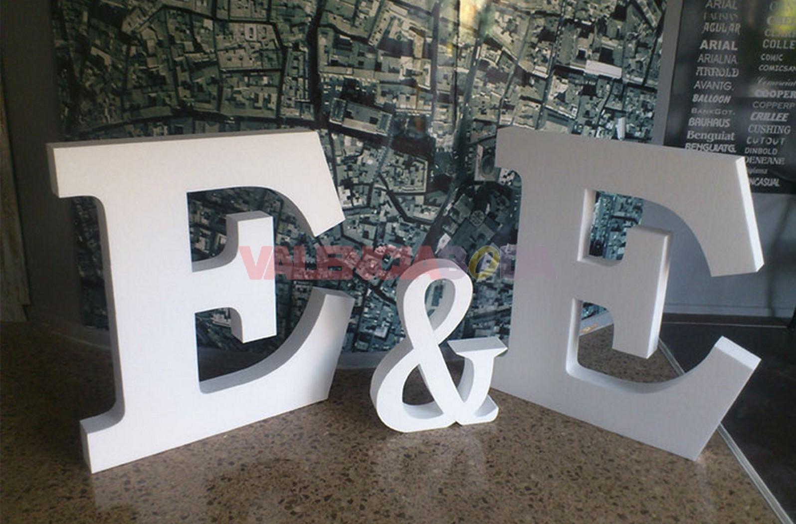 letras grandes de corcho